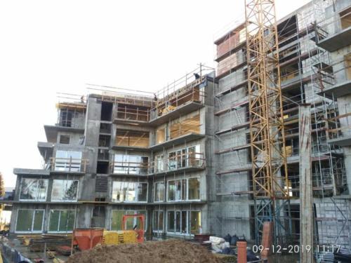 Budowa budynku apartamentowego w Sianożętach